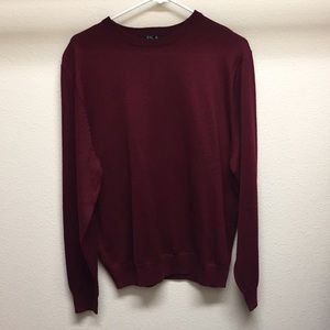 Jos. A. Bank Maroon Crew Sweater